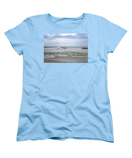 A Peek Of Blue Women's T-Shirt (Standard Cut) by Terry DeLuco