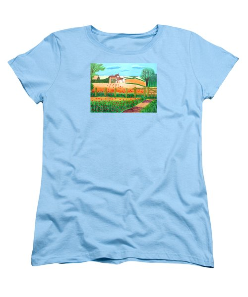 A Poppy Field Women's T-Shirt (Standard Cut) by Magdalena Frohnsdorff