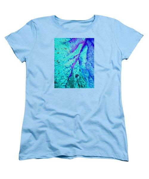 Women's T-Shirt (Standard Cut) featuring the digital art A River Runs Through It by Mariarosa Rockefeller