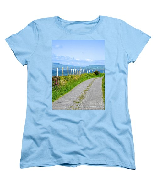 Women's T-Shirt (Standard Cut) featuring the photograph A Road To Waterville by Suzanne Oesterling