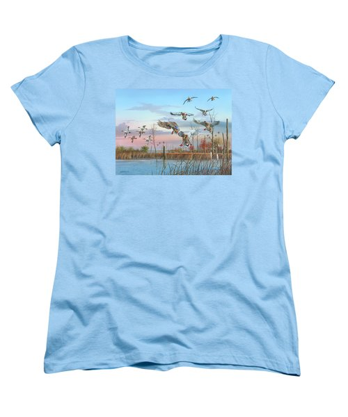 Women's T-Shirt (Standard Cut) featuring the painting A Safe Return by Mike Brown
