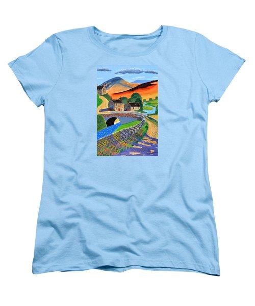 a Scottish highland lane Women's T-Shirt (Standard Cut) by Magdalena Frohnsdorff