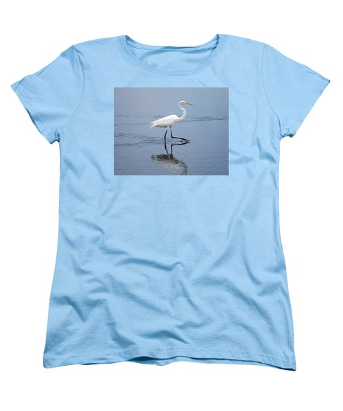 Women's T-Shirt (Standard Cut) featuring the photograph A Stroll In The Marsh by John M Bailey