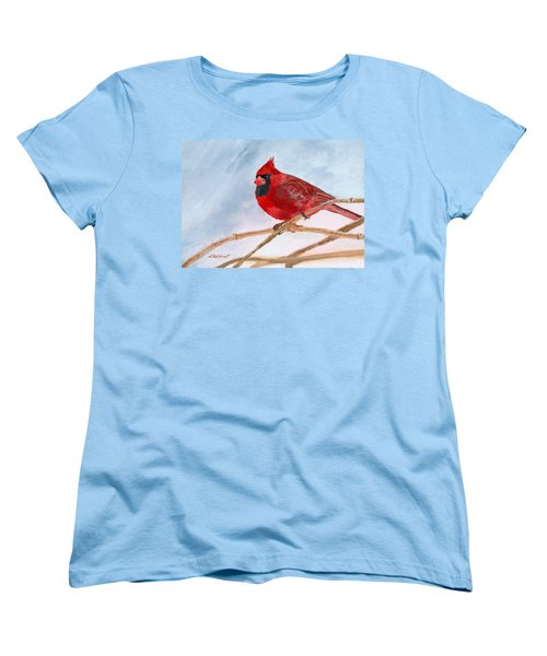Women's T-Shirt (Standard Cut) featuring the painting A Touch Of Red by Lynne Reichhart