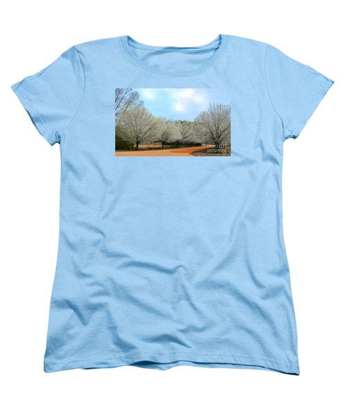Women's T-Shirt (Standard Cut) featuring the photograph A Touch Of Spring by Kathy Baccari