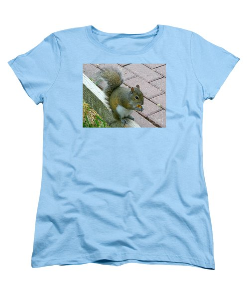 Women's T-Shirt (Standard Cut) featuring the photograph A Two-nut Lunch by Mariarosa Rockefeller