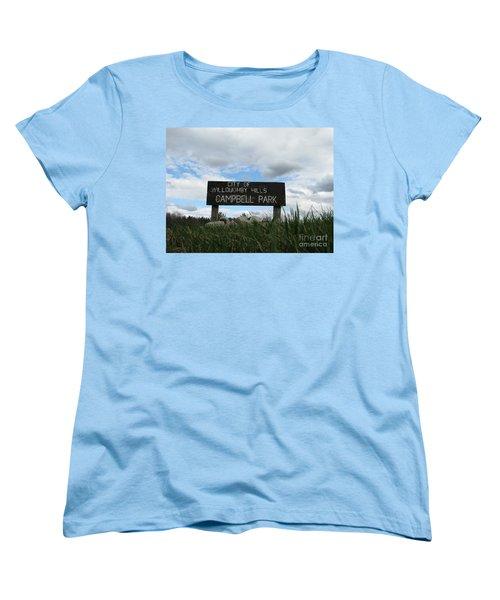 Women's T-Shirt (Standard Cut) featuring the photograph A Walk In The Park  by Michael Krek