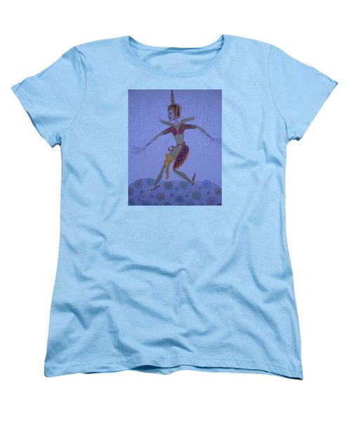 Women's T-Shirt (Standard Cut) featuring the painting A Wild Dance Of A Nymph by Marie Schwarzer