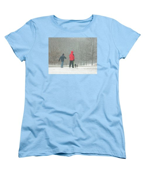 Women's T-Shirt (Standard Cut) featuring the photograph A Winter Walk In The Park - Silver Spring Md by Emmy Marie Vickers