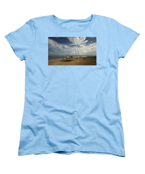 Abandoned Beach Women's T-Shirt (Standard Cut) by Mustafa Abdullah