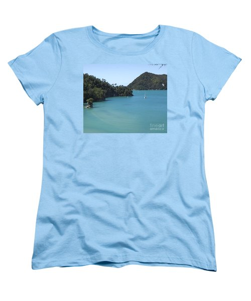 Abel Tasman Bay With Sail Boat Women's T-Shirt (Standard Cut)