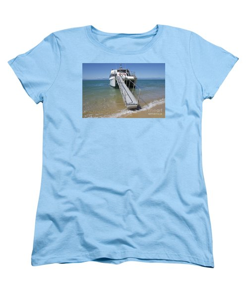 Abel Tasman Water Taxi Women's T-Shirt (Standard Cut) by Loriannah Hespe