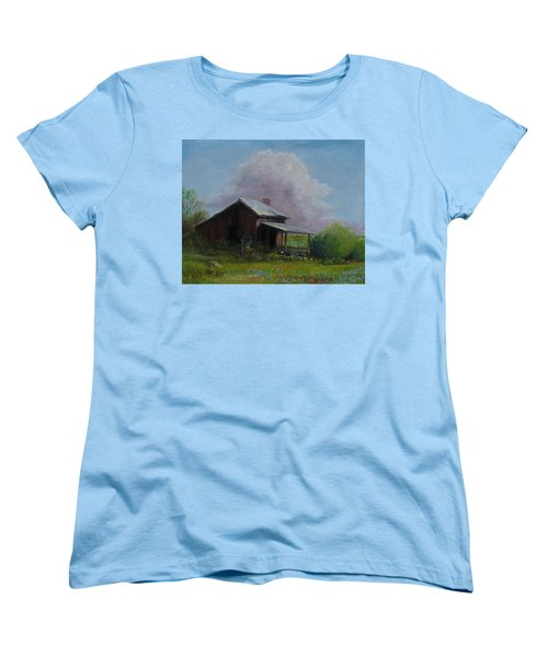 Women's T-Shirt (Standard Cut) featuring the painting Abondoned Memories  by Gene Gregory