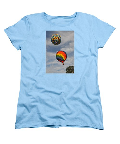 Women's T-Shirt (Standard Cut) featuring the photograph Above The Treetop by Mike Martin