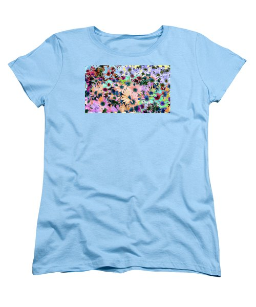 Abstract Colored Flowers Women's T-Shirt (Standard Cut) by Susan Stone