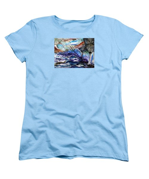 Abstract Wolf Women's T-Shirt (Standard Cut) by Lil Taylor