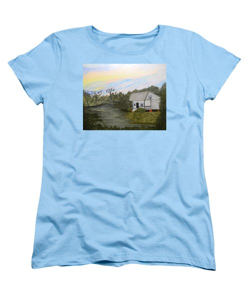 Acadian Home On The Bayou Women's T-Shirt (Standard Cut)