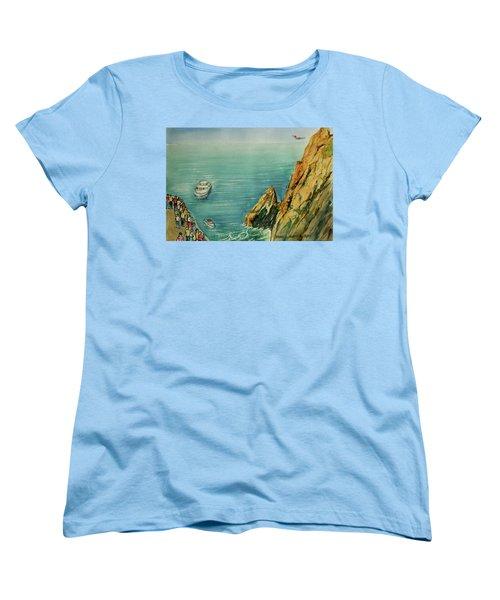 Acapulco Cliff Diver Women's T-Shirt (Standard Cut) by Frank Hunter