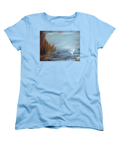 Women's T-Shirt (Standard Cut) featuring the painting Achieving Stillness  by Laurianna Taylor