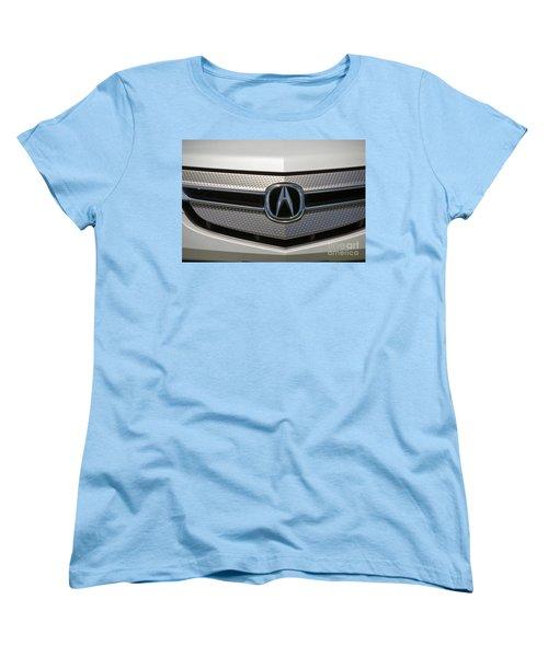 Acura Grill Emblem Close Up Women's T-Shirt (Standard Cut) by David Zanzinger