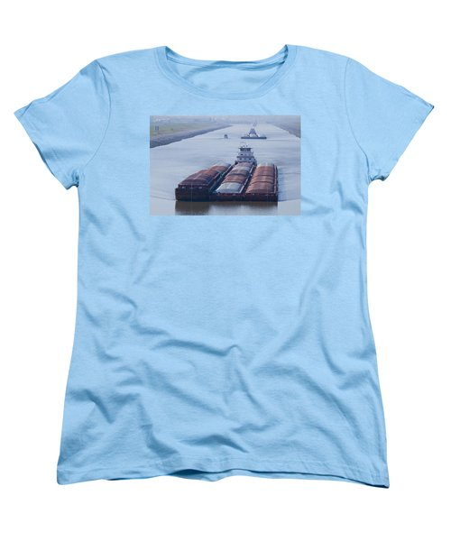 Aep Tow Passing Through The Chain Of Rocks Canal Women's T-Shirt (Standard Cut) by Garry McMichael
