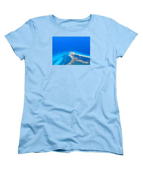 Women's T-Shirt (Standard Cut) featuring the photograph Aerial View Of Cancun by Patti Whitten