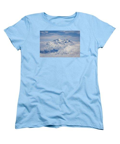 Aerial View Of Mount Everest Women's T-Shirt (Standard Cut) by Hitendra SINKAR