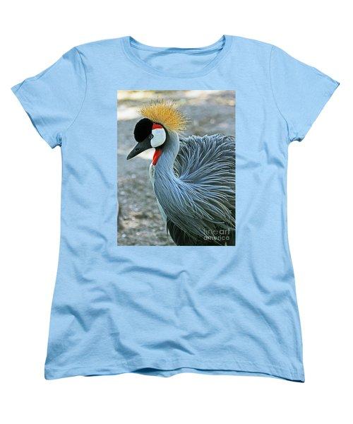 African Crane Women's T-Shirt (Standard Cut) by Larry Nieland