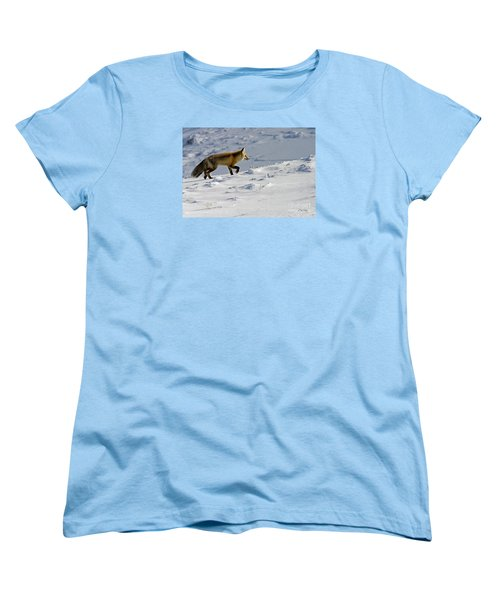 Against The Glare-signed Women's T-Shirt (Standard Cut) by J L Woody Wooden