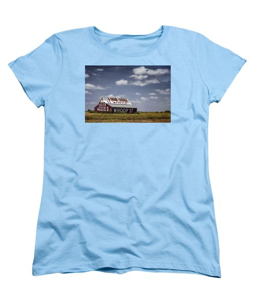 Aggie Barn Women's T-Shirt (Standard Cut) by Joan Carroll