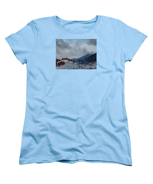Women's T-Shirt (Standard Cut) featuring the painting Airyhill by Len Stomski