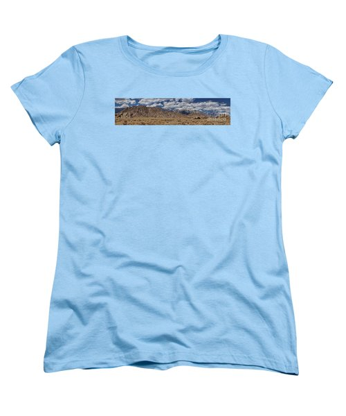 Alabama Hills And Eastern Sierra Nevada Mountains Women's T-Shirt (Standard Cut) by Peggy Hughes