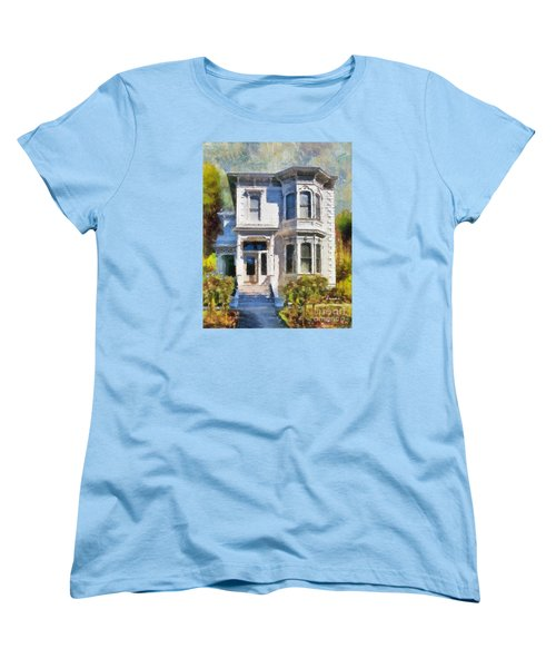 Alameda 1880 - Queen Anne  Women's T-Shirt (Standard Cut) by Linda Weinstock
