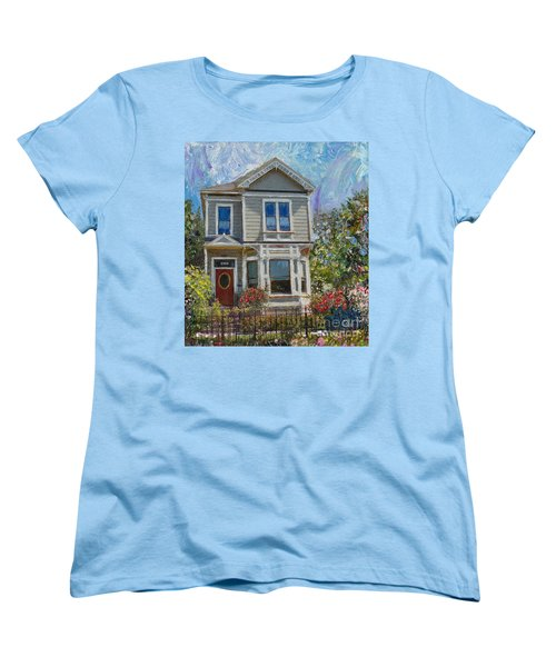 Alameda 1892 Queen Anne Women's T-Shirt (Standard Cut) by Linda Weinstock