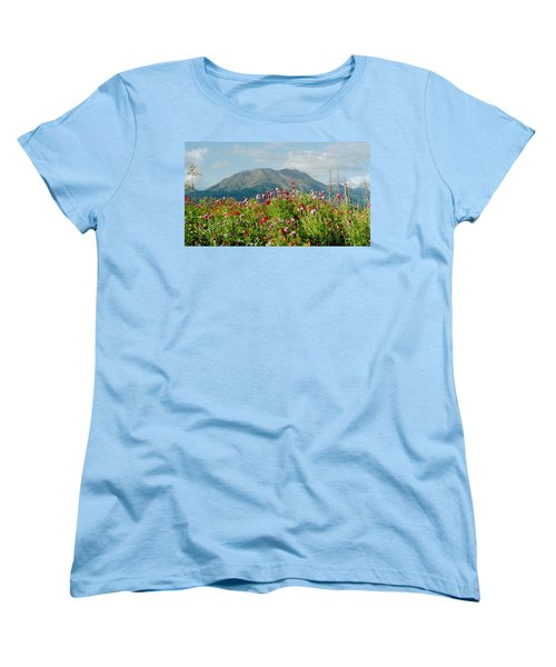 Alaska Flowers In September Women's T-Shirt (Standard Cut) by Denyse Duhaime