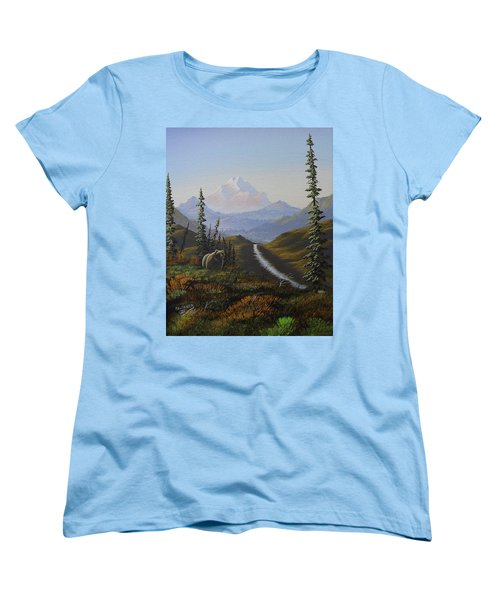 Alaskan Brown Bear Women's T-Shirt (Standard Cut) by Richard Faulkner