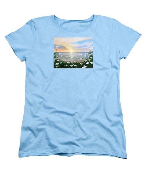 Alcatraces Women's T-Shirt (Standard Cut) by Angel Ortiz