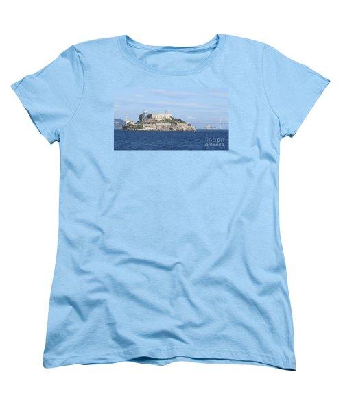 Alcatraz Island Women's T-Shirt (Standard Cut) by Mary Mikawoz