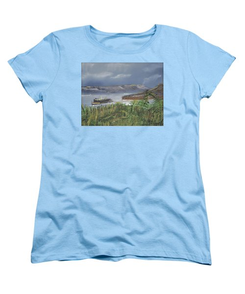 Women's T-Shirt (Standard Cut) featuring the painting Alcatraz by Michael Daniels