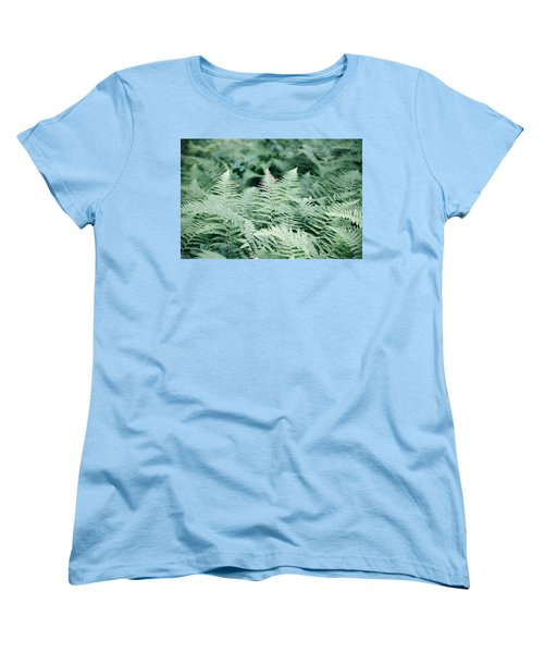Women's T-Shirt (Standard Cut) featuring the photograph Algonquin Ferns by David Porteus