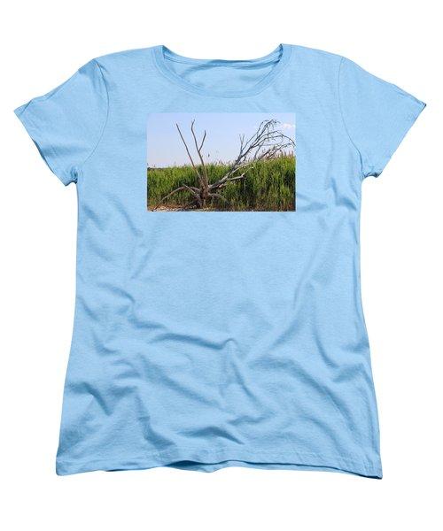 Women's T-Shirt (Standard Cut) featuring the photograph All Alone by Paul SEQUENCE Ferguson             sequence dot net