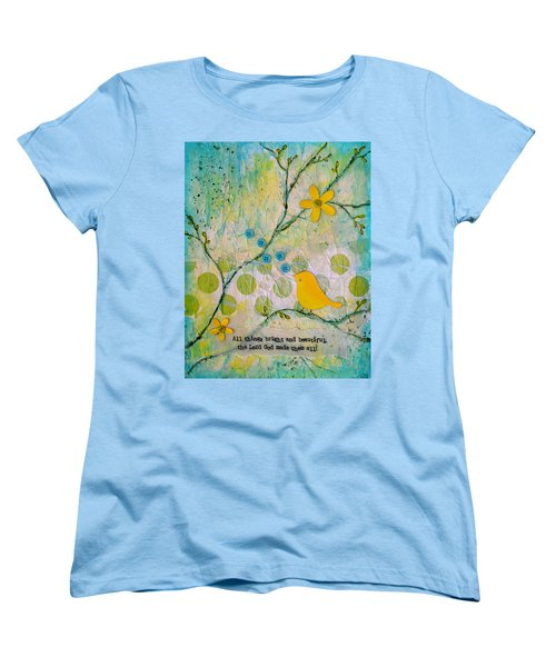 All Things Bright And Beautiful Women's T-Shirt (Standard Cut) by Carla Parris