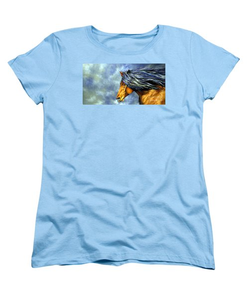 Women's T-Shirt (Standard Cut) featuring the painting Almanzors Glissando  by Alison Caltrider