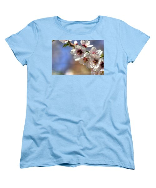Women's T-Shirt (Standard Cut) featuring the photograph Almond Blossoms by Jim and Emily Bush