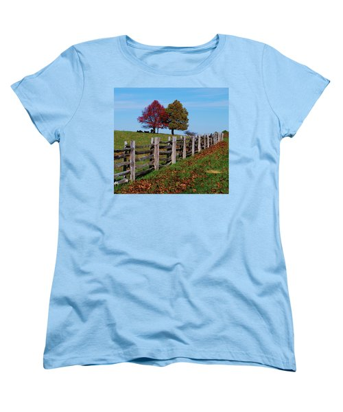 Along The Fence Women's T-Shirt (Standard Cut) by Eric Liller