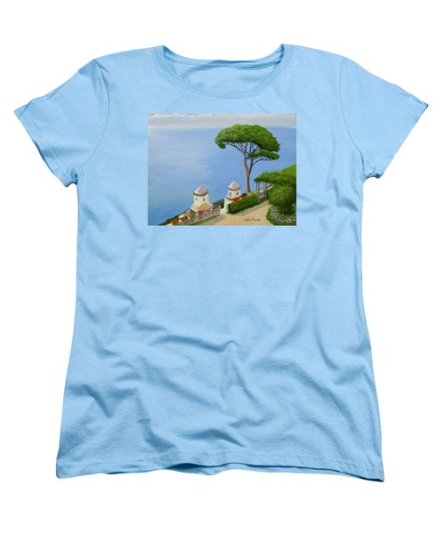 Amalfi Coast From Ravello Women's T-Shirt (Standard Cut) by Mike Robles
