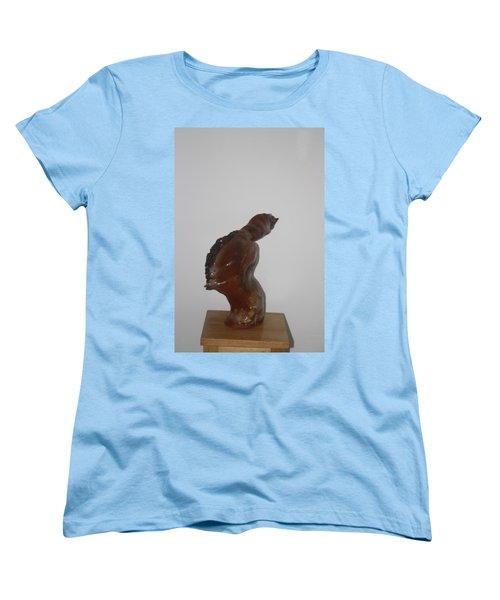 Women's T-Shirt (Standard Cut) featuring the sculpture American Athlete...inspiration Gail Devers by Gloria Ssali