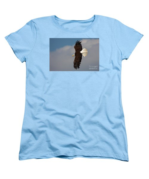 American Bald Eagle In Flight Women's T-Shirt (Standard Cut) by Nick  Biemans