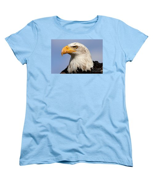 American Bald Eagle Women's T-Shirt (Standard Cut) by Nick  Biemans