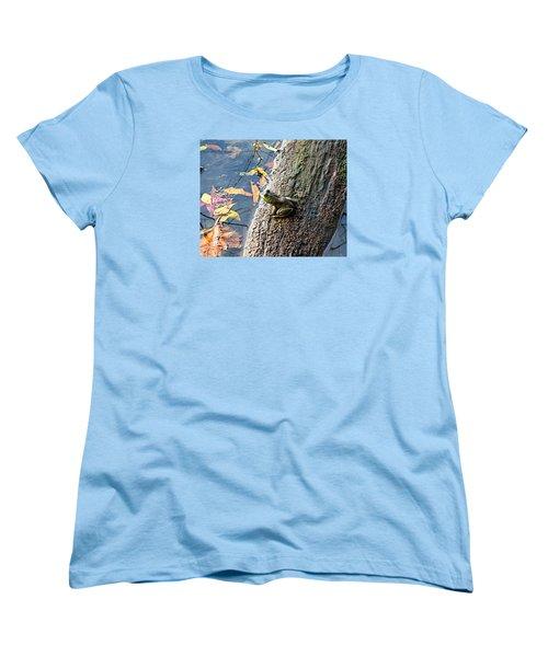 Women's T-Shirt (Standard Cut) featuring the photograph American Bullfrog by William Tanneberger